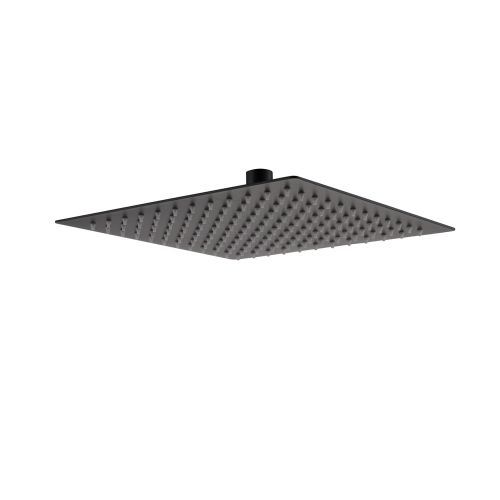 Black Slim Square Shower Head by Voda Design