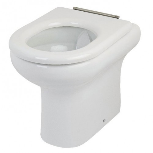 RAK Ceramics Compact Rimless Special Needs White Soft Close Seat without Lid