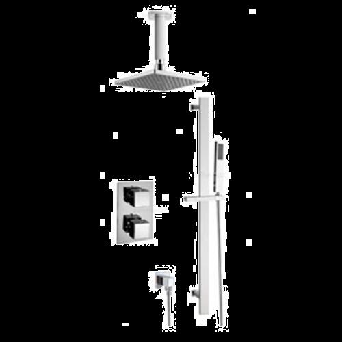 Square Ceiling Mounted Diverter Shower Set