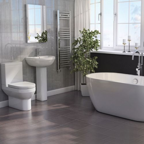 Modern Bathroom Suite with Freestanding Bath