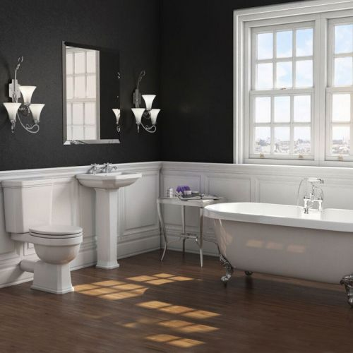 Traditional Bathroom Suite with Freestanding Bath