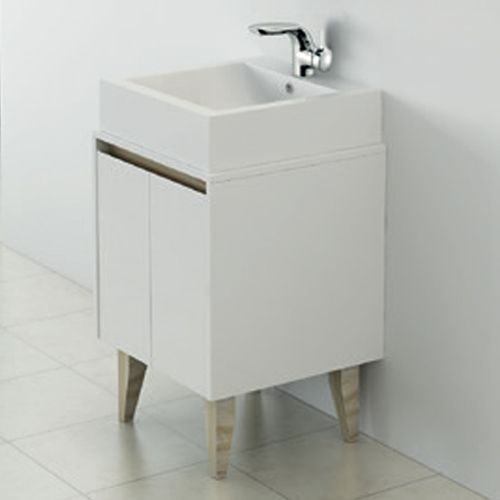 500mm Wall Hung Unit with Counter Top Basin - Nordic By Synergy