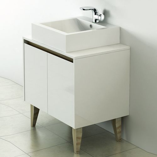 700mm Wall Hung Unit with Counter Top Basin - Nordic By Synergy