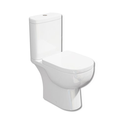 Synergy Tilly Open Back Close Coupled WC Toilet & Soft Close Seat