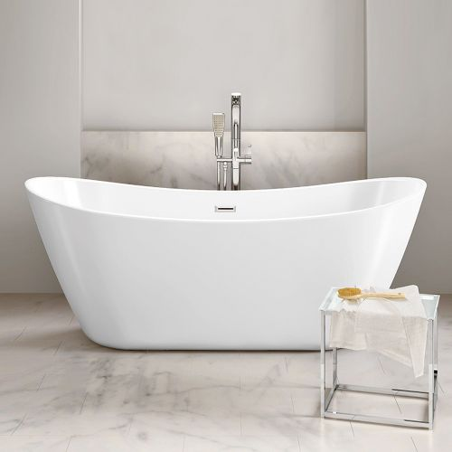 Freestanding Modern Double Ended Bath, 1700, 1800 - Rose By Voda Design