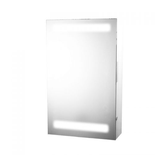 Illuminated Mirror Cabinet with Shaver Socket - Siren by Voda Design