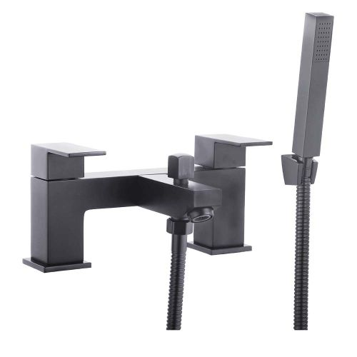 Douglas Black Bath Shower Mixer with Shower - By Voda Design