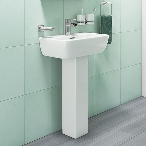 520mm 1 Tap Hole Basin & Pedestal - R10 By Voda Design