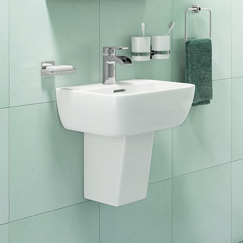 Synergy Venice 420mm Basin & Half Pedestal