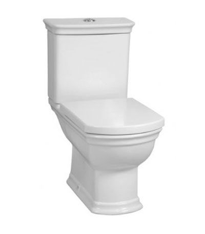 VitrA Serenada Close Coupled Open Backed WC Toilet