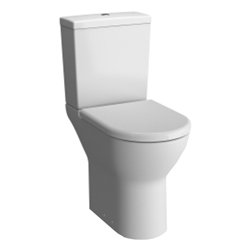 VitrA S50 Comfort Height Close Coupled WC Pan and Cistern with Open Back Standard Seat