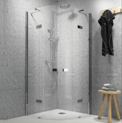 Frameless Quadrant Hinged Enclosure  - Kaso 8 Star by Voda Design (8mm Thick)