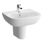 VitrA Zentrum 650mm 1 Tap Hole Washbasin With Semi Pedestal