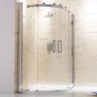 Frameless Offset Quadrant Enclosure With Sliding Doors - Vodas 8 - Synergy