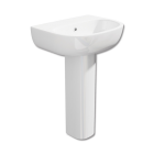 550mm 1 Tap Hole Basin And Pedestal - C10 By Voda Design