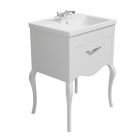 Synergy Paris 600mm Vanity Unit White with Ceramic Basin