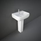 RAK Metropolitan 52cm 1TH Basin with Full Pedestal