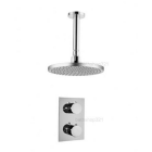 Round Thermostatic Ceiling Mounted Shower Set