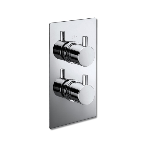 Round Concealed Twin Thermostatic Shower Valve by Voda Design