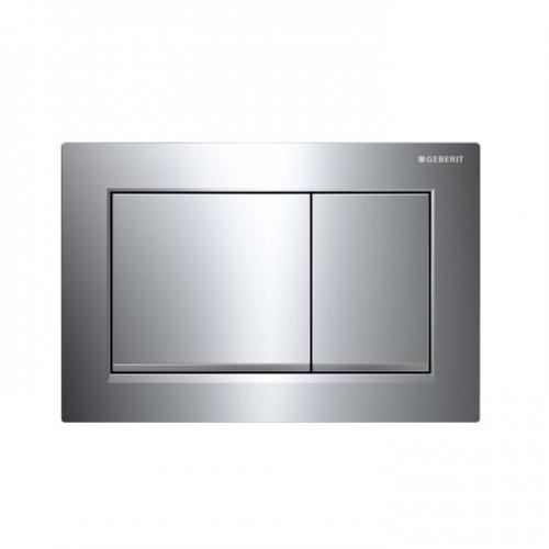 Geberit Omega30 Dual Flush Plate Polished Chrome 115.080.KH.1