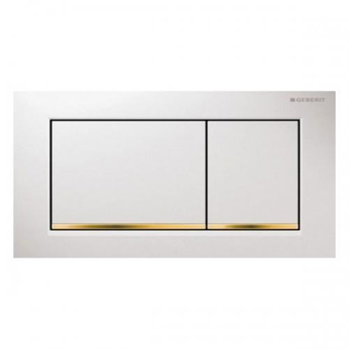 Geberit Omega30 Dual Flush Plate White Gold 115.080.KK.1