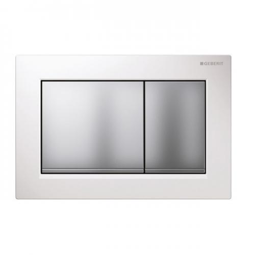 Geberit Omega30 Dual Flush Plate White Matt Chrome 115.080.KL.1