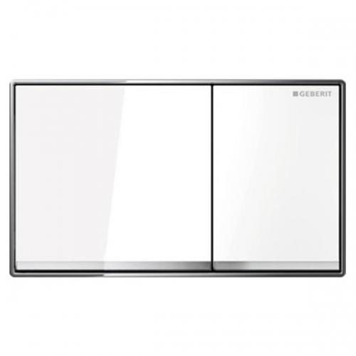 Geberit Omega60 Dual Flush Plate White Glass 115.081.SI.1