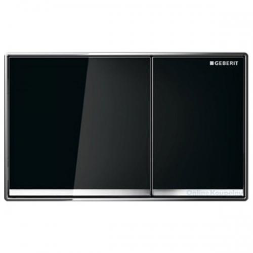 Geberit Omega60 Dual Flush Plate Black Glass 115.081.SJ.1