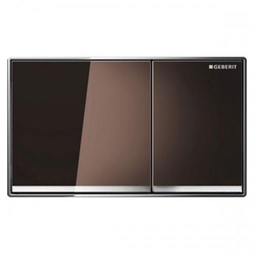 Geberit Omega60 Dual Flush Plate Umber Glass 115.081.SQ.1