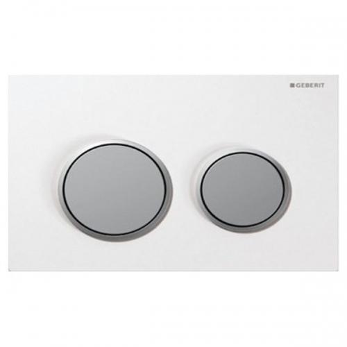 Geberit Omega20 Dual Flush Plate White Matt Chrome 115.085.KL.1