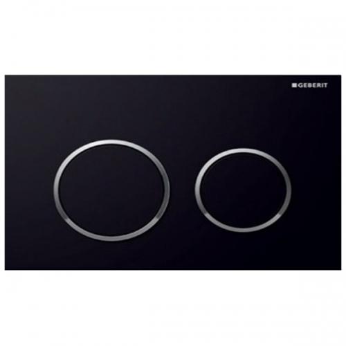 Geberit Omega20 Dual Flush Plate Black Gloss Chrome 115.085.KM.1