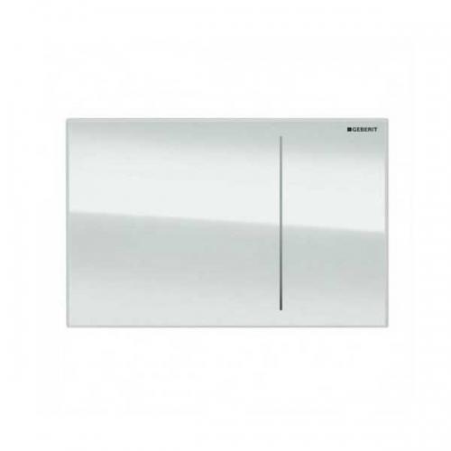 Geberit Omega 70 Dual Flush Plate White Glass 115.089.SI.1