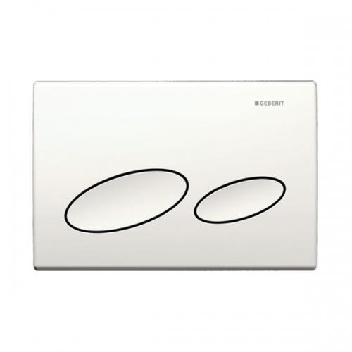 Geberit Kappa20 Dual Flush Plate White 115.228.11.1
