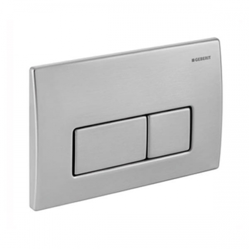 Geberit Kappa50 Brushed Stainless Steel Dual Flush Plate 115.258.00.1