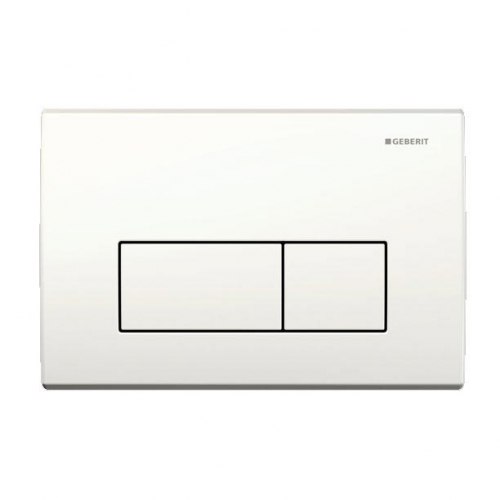 Geberit Kappa50 Dual Flush Plate White 115.260.11.1