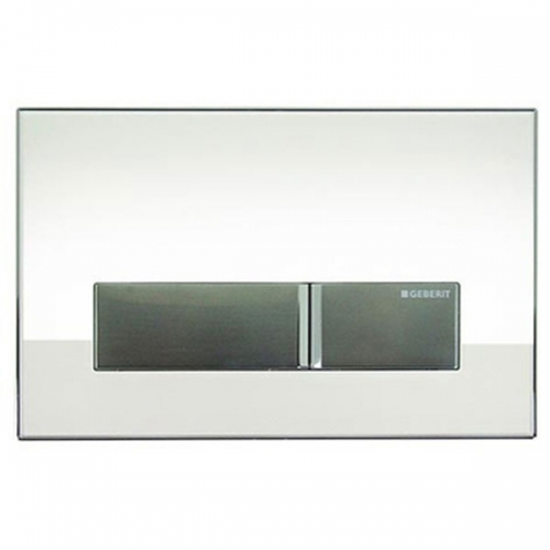 Geberit Sigma 40 Dual Flush Plate With Integrated Odour Extraction White Glass 115.600.SI.1