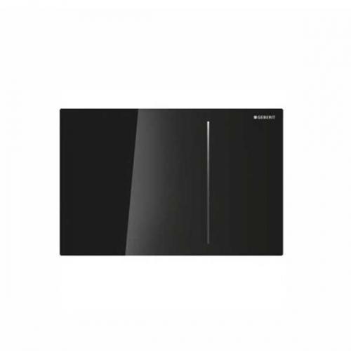 Geberit Sigma 70 Dual Flush Plate for 120mm Concealed Cistern Black Glass 115.621.SJ.1