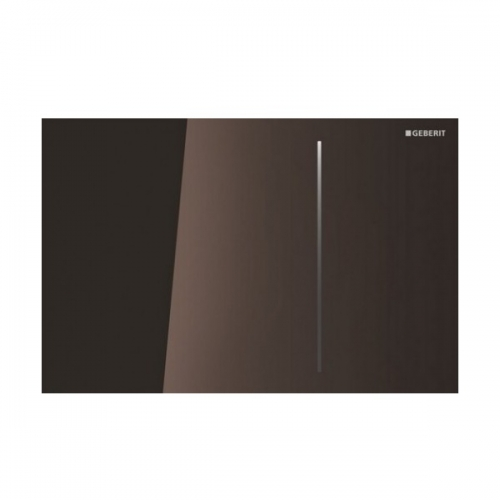 Geberit Sigma 70 Dual Flush Plate for 80mm Concealed Cistern Umber Glass 115.627.SQ.1
