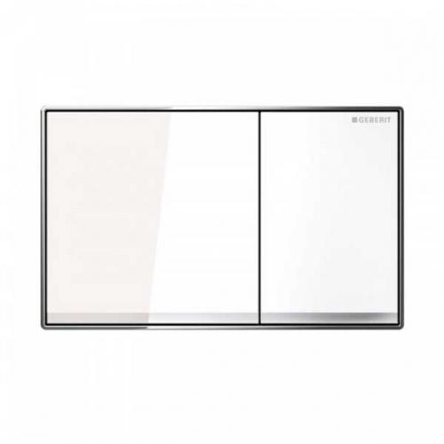 Geberit Sigma 60 Dual Flush Plate White Glass 115.640.SI.1