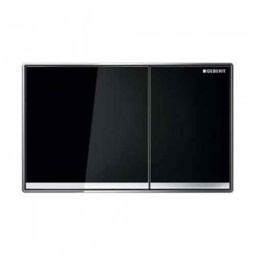 Geberit Sigma 60 Dual Flush Plate Black Glass 115.640.SJ.1
