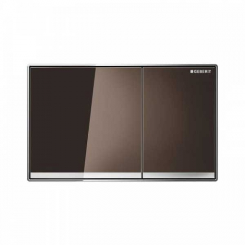 Geberit Sigma 60 Dual Flush Plate Umber Glass 115.640.SQ.1