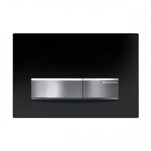 Geberit Sigma50 Jet Black Plastic Dual Flush Plate 115.788.DW.5