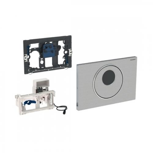 Geberit Sigma10 Flush Control Mains Brushed Stainless Steel 115.856.SN.1