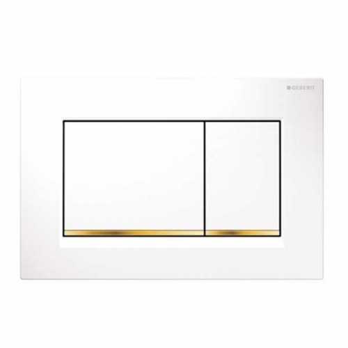 Geberit Sigma30 Dual Flush Plate White Gold 115.883.KK.1