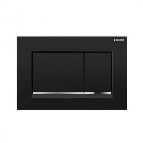 Geberit Sigma30 Dual Flush Plate Gloss Black Chrome 115.883.KM.1