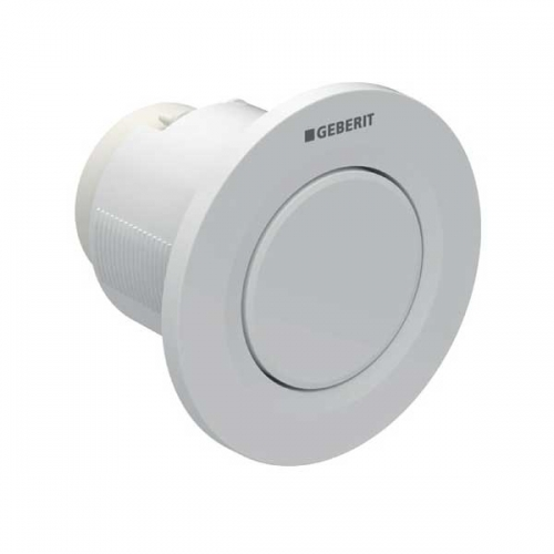 Geberit Type 01 Single Flush Plate Button for 120mm and 150mm Concealed Cistern Alpine White 116.040.11.1