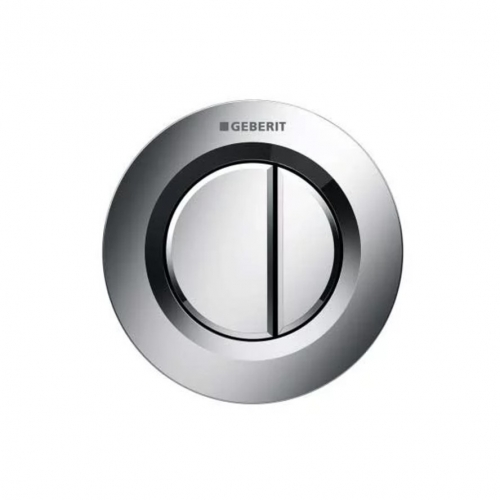 Geberit Type 01 Dual Flush Plate Button for 80mm Concealed Cistern Gloss Chrome 116.043.21.1