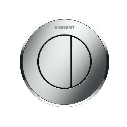 Geberit Dual Flush Button Type 10 12/15cm Gloss Chrome 116.055.KH.1