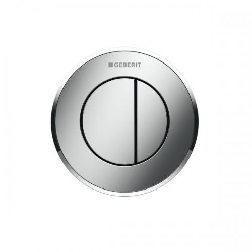 Geberit Dual Flush Button Type 10 12/15cm Matt Chrome 116.055.KN.1