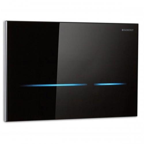 Geberit Sigma80 Black Glass Touchless Flush Plate for 12cm UP320 Cistern 116.090.SG.1